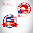 Royalty-Free Stock Photo: Happy Independence Day vintage background with ribbon