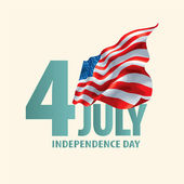 Happy Independence Day vintage background with ribbon — Stock Photo