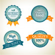 Labels with vintage design - Stock Photo