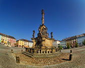 Fountain in Moravska Trebova Czech Republic — Stock Photo