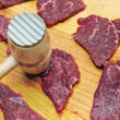 Raw beef meat on board — Stock Photo #11661183
