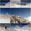 Various winter landscape - collection 8 images — Stock Photo