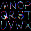 Handwritten Neon Light Alphabets — Stock Photo #12129456