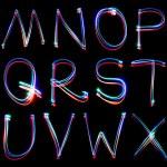 Handwritten Neon Light Alphabets — Stock Photo #12129456