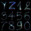 Handwritten Neon Light Alphabets — Lizenzfreies Foto