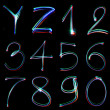 Handwritten Neon Light Alphabets — Stockfoto