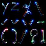 Handwritten neon light alphabets — Stock Photo #12129685