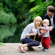 Happy family having fun together in the park — Stock Photo #11481935