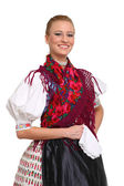 Beautiful folklore girl smiling — Stock Photo