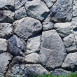 Grass and stone wall - Stock Photo