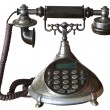 An old telephon with rotary dial — Stock Photo