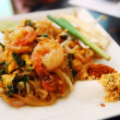 Thailand's national dishes, stir-fried rice noodles (Pad Thai) — Stock Photo