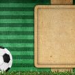 Old paper background football 2012 — Stock Photo