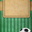 Royalty-Free Stock Photo: Old paper background football 2012