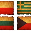 Royalty-Free Stock Photo: Flags football 2012 - group A, B, C, D on Vintage background wit