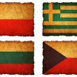 Flags football 2012 - group A, B, C, D on Vintage background wit — Stock Photo #10975719