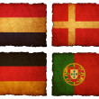 Flags football 2012 - group A, B, C, D on Vintage background wit — Stock Photo #10975769