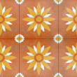 Detail of glazed tiles — Stockfoto