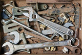 Artist hand tools for wood handicraft — Stock Photo