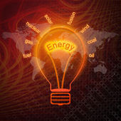 Energy sources in bulbs — Stock Photo