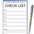 Check list note paper — Stock Photo