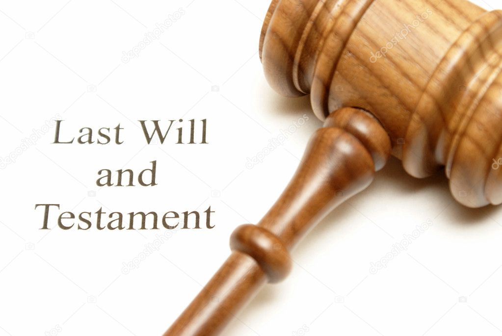 A gavel on top of will papers with the focus on the writing. — Stock Photo #11230605
