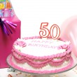Happy 50th Birthday - Stock Photo