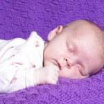 Sleeping Baby Girl — Stock Photo