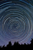 Startrails — Stock Photo
