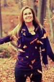 Roztomilý kavkazské model — Stock fotografie