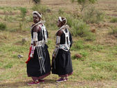 Maasai Girls — Stock Photo