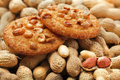 Cookies with peanuts — Stock Photo