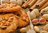 Cookies with peanuts and cinnamon — Стоковое фото
