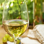 White wine, Brie, Camembert and grape — Stock Photo