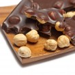 Stock Photo: Chocolate with hazelnut