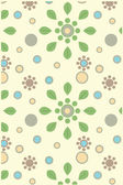Floral seamless wrapping pattern — Stock Vector