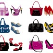 Royalty-Free Stock Vector Image: Fashion bags and shoes