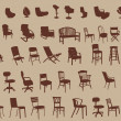 Chairs — Vector de stock