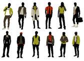 Male fashion — Stock Vector