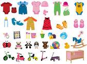 Baby fashion — Stock Vector