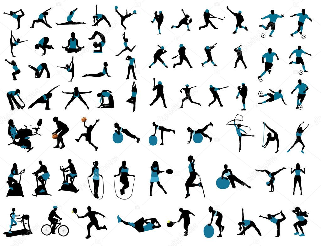 Sports silhouettes — Stock Vector #11174388