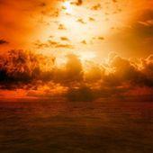 Cielo rojo — Foto de Stock