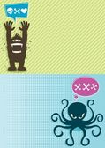Monster Backgrounds 1 — Stock Vector