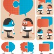 Cooperation — Stock Vector