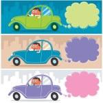 Car Driver — Stock Vector