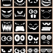 Stock Vector: Avatars Black