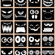 Avatars Black - Stock Vector
