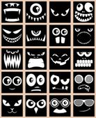 Avatars Black — Stock Vector