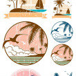 Beach Symbols — Stock Vector