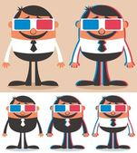 3d gözlük — Stok Vektör